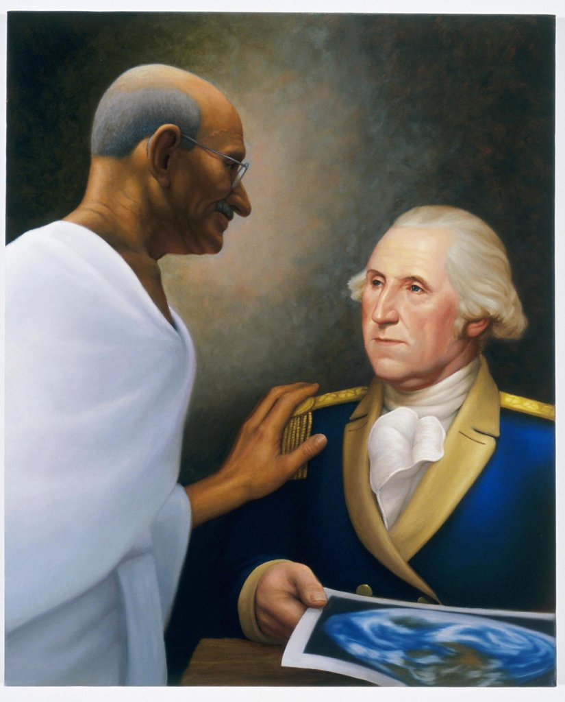 Founding Fathers (Mahatma Gandhi and General George Washington)