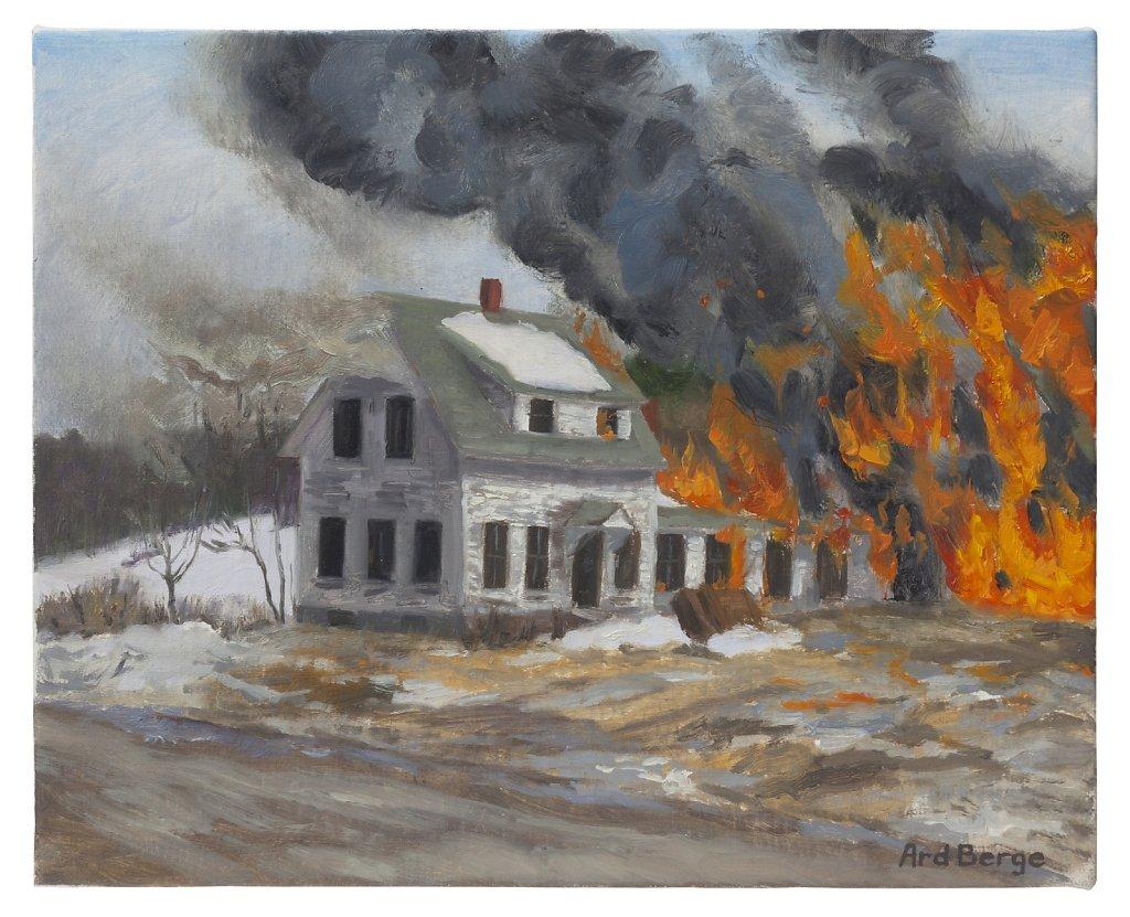 Burning Farmhouse